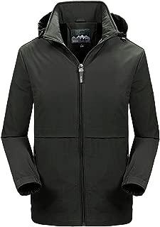 LEKODE Men Outwear Fashion Solid Hoodie Long Sleeve Tops