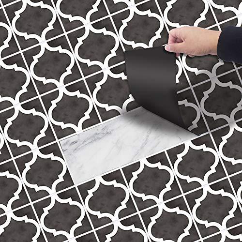 Demana Boden Aufkleber Selbstklebend 20x300 cm PVC, Fliesenaufkleber Bodenfliesen DIY Aufkleber wasserdichte Anti-Rutsch Fliesensticker für Wohnzimmer Küchenboden Bad Balkon (NO4)