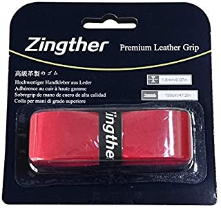 Zingther 2-Pack HiComfort Leather Replacement Grip Tape for Tennis Racquet/Badminton Racket/Golf Club/Cane/Pickleball Padd...