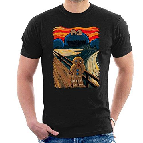 The Cookie Muncher The Scream Shrek Sesame Street Men's T-Shirt