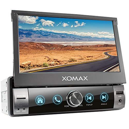 XOMAX XM-V762-L11 Autoradio mit Mirrorlink, Bluetooth Freisprecheinrichtung, 7 Zoll / 18cm Touchscreen Bildschirm, RDS, USB, SD, AUX, 1 DIN