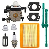 FitBest Carburetor with Air Filter for Stihl MM55 MM55C Zama C1Q-S202A Carb Replaces 4601-120-0600