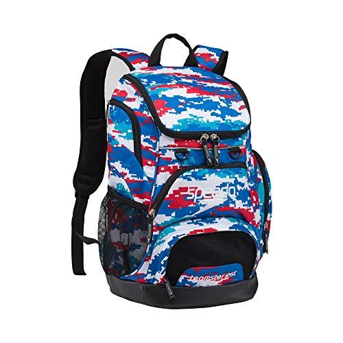 Speedo Grand sac à dos Teamster unisexe pour adulte 35 l, Mixte, USX25LTEAMSTERBP-MD, Digi Rouge/Blanc/Bleu, Taille unique