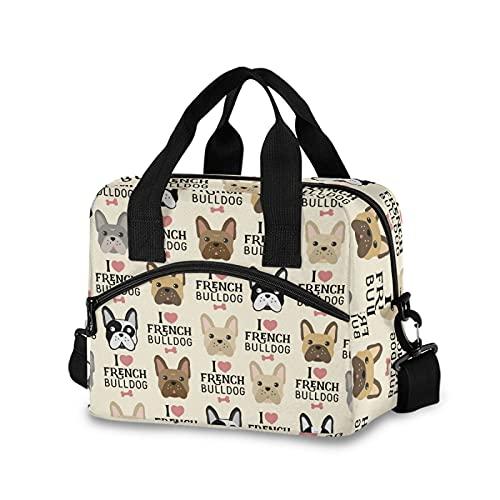 Cute French Bulldog Lunch Bags for Women Crossbody Lunch Bag lunch Box Lunch Cooler Bag(7ya3c)