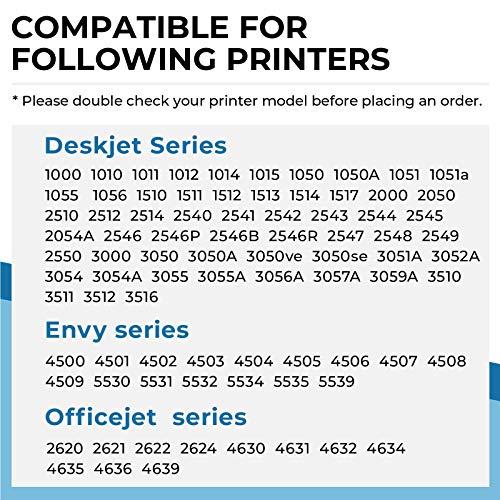 Penguin-Cartucho de Tinta Remanufacturado para hp 301xl 301 xl Compatible con Deskjet 1000 2000 2512 2050 2550 3000 3510 3050 3059A Envy 4500 5530 Officejet 2620 4630 4639 Impresora (1 Negro, 1 Color)