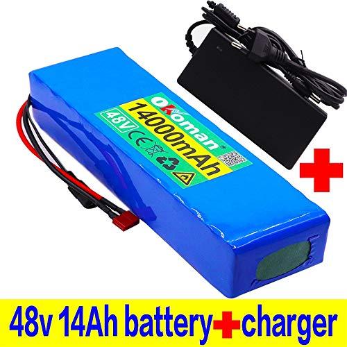 48V Batería de Litio 13S3P 14Ah Paquete de baterías Batería de Alta Potencia de 1000 W 48 V 14000 mAh Bicicleta eléctrica Batería de Bicicleta eléctrica BMS
