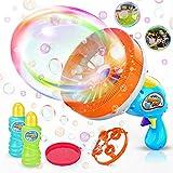 3. WisToyz Bubble Machine Bubble Blower Giant & Small Bubble Maker with 2 Bubble Wands, Bubble Machine for Kids Dip &Press Bubble Gun 800+ Bubbles Per Minute 2 x 8 oz Bubble Solution Included