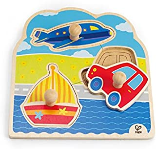 Hape On The Go Wooden Toddler Knob Puzzle
