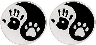 CoSunny Palm Paw Tai Chi - Broche para solapa, 2 unidades, diseño de perro y gato