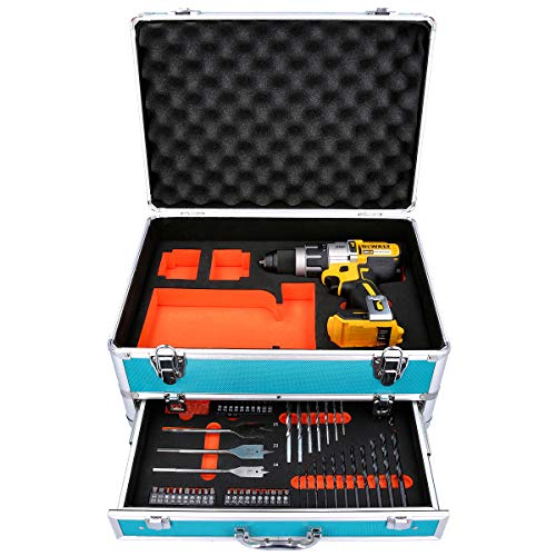 DCD996 18V XRP Brushless Combi Drill with 70 Piece Accessory Set in Aluminum Case