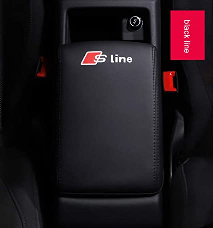 Red line AUTO-P is Suitable for Audi 2017-2020 A4 A5 Central armrest Box Cover Storage Box Leather Cover Protector Leather Cover