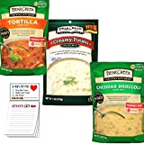 Bear Creek Soup Mix Variety Pack of 3 Flavors | Tortilla | Creamy Potato | Cheddar Broccoli | Snack Fun Shopping Pad