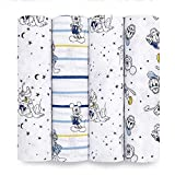 aden + anais Disney, Swaddle Blanket, Boutique Muslin Blankets for Girls & Boys, Baby Receiving Swaddles, Ideal Newborn & Infant Swaddling Set, Perfect Shower Gifts, 4 Pack, Mickey Stargazer