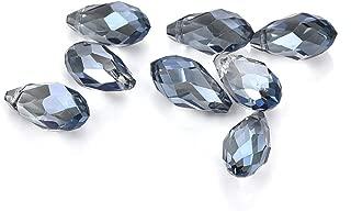 15PCS Crystal Rhinestones Teardrop Sparkling Diamond AB Beads for DIY Crafts Clothes Bag Shoes