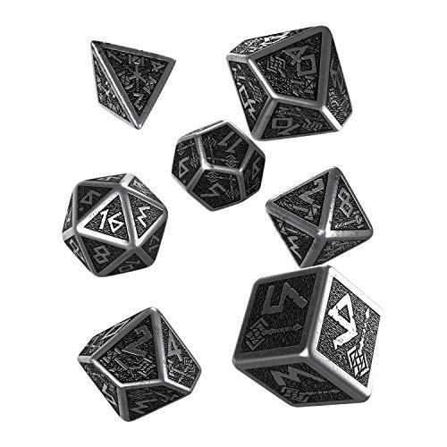 Q Workshop Metal Dwarven 7 Polyhedral RPG Ornamented Dice Set