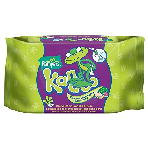 Pampers Kandoo magique Melon toilettes lingettes (55) - Paquet de 6