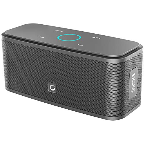 DOSS SoundBox Touch Portable Wireless Bluetooth Speakers with 12W HD Sound and Bass, 20H Playtime, Handsfree, Speakers for Home, Travel-Gunmetal Grey