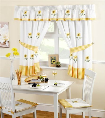 Lemon Sunflower Kitchen Chair Seat Pad by Ideal Textiles