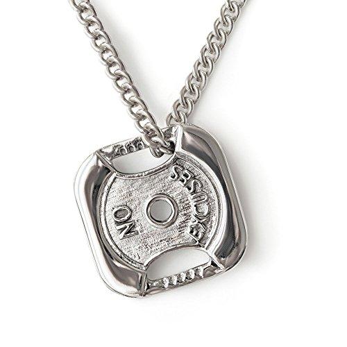 Keine Ausrede Gewichtsplatte Halskette Sterling Silber 925 Fitness Halskette Trainings schmuck Hantel scheiben anhänger