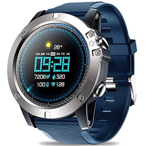 QCHNES Bluetooth Smart Watch, Herren wasserdichte Zeblaze Vibe 3 PROSport-Smartwatch, Pulsmesser-Näherungssensor, 1.3-Zoll-Touchscreen Für Android Und IOS