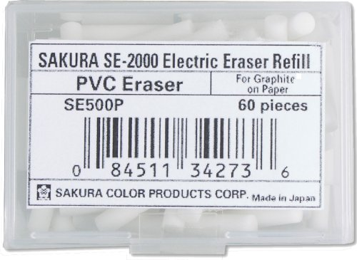 Sakura Electric Eraser Refill White 60/Pk