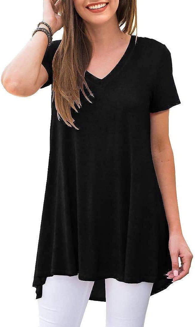 POPYOUNG Women's Summer Casual T-Shirt Tunic 2021new shipping free shipping Short Sleeve Max 81% OFF V-Neck
