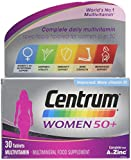 Centrum 50 Plus Multivitamin Tablets for Women, Pack of 30