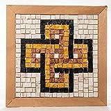 Mosaico Romano Nudo de Salomón simple - Kit mosaico hazlo tu mismo para nivel inicial 23x23 cm - Idea regalo Aniversario - Teselas precortadas mármol italiano - Mosaicos manualidades