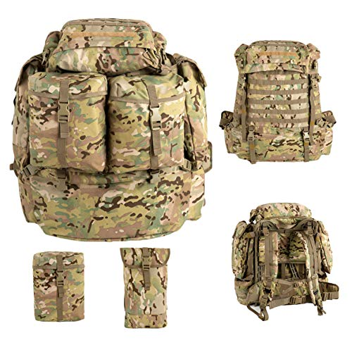 Akmax.cn MT Assembly Military Rucksack Tactical Assault Rucksack Trinksystem mit Rahmen und Hüftgurt Multicam