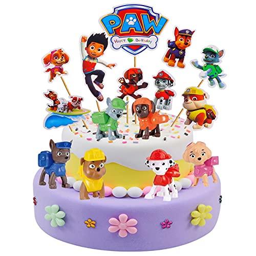 KINSEN - 24 piezas de decoración para tartas de cumpleaños para niños (24 A)