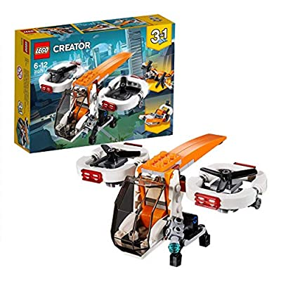 LEGO 31071 Creator 3in1 Drone Explorer Swamp Boat and Propeller Plane Model Building Set, Toys for Kids 6-12 Years Old from Lego Uk Limited