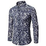 Playa Shirt Hombre Tendencia Moda Solapa Cardigan Plumas Estampado Hombre Casuales Camisa Otoño Invierno Cardigan Solapa Hombre Shirt Urbanas Vacaciones Estilo Manga Larga Shirt