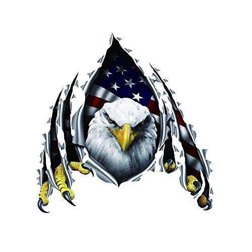 1797 Car Decals Stickers Bald Patriotic Eagle American USA Flag 3D Colorful Decorations Accessories Waterproof Door Windows Seal 11.8