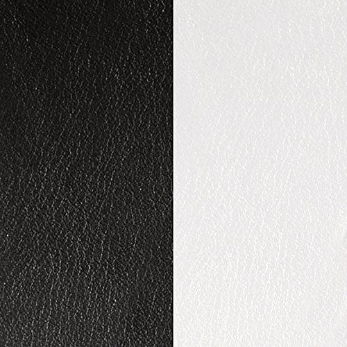 Les Georgettes - Ledereinsatz für Damen Armreifen 8mm, Lederfarbe:Schwarz/Weiß