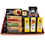 Ultimate Gift Basket with Features Smoked Summer Sausages, 100% Wisconsin Cheese, Crackers, Pretzels and...