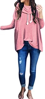 Sumen Teen Girls Elegant Hoodie Sweatshirt Fashion Swag Curved Hemline Blouses