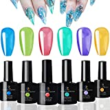 FIGHTART Translucent Jelly Gel Polish Set Crystal Sweet Color Gel 10 ML Each 2020 Soak Off Uv Led 6 Bottles