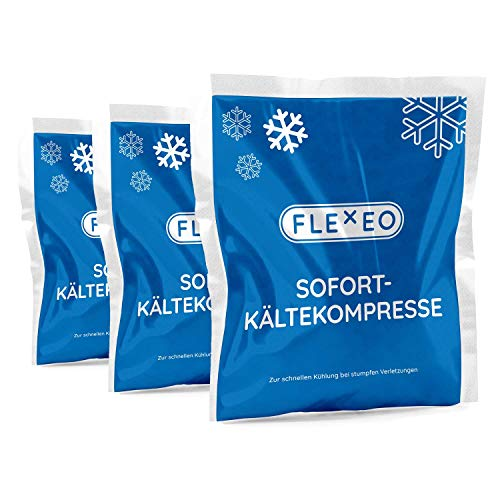 10 Stück FLEXEO Sofortkältekompresse 17 x 15 cm groß Sofort-Kältekompresse Kälte-Sofort-Kompresse Kühlpack Kühlakku Kältekompresse Kühlkompresse Instant Ice Bag Einmal Kühl-Kompresse Kühlpacks Quick