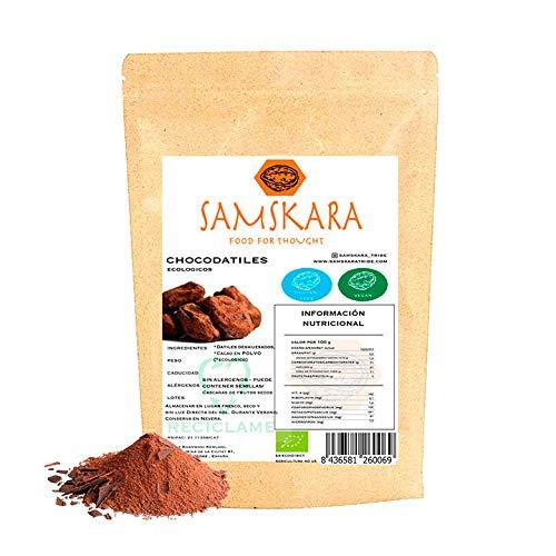 Datiles Deshuesados Ecológica saboreada - Dulce saludable producida en Barcelona por Samskara (Cacao, 1kg)