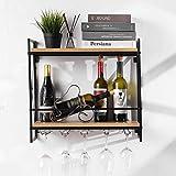 Tinyuet Porta Botella de Vino, 21,6 Pulgadas Soporte para Vino Colgante de Metal...