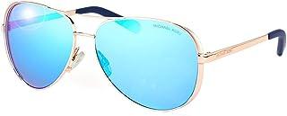Michael Kors MK5004 100325 Rose Gold Tone / Blue Mirror Aviator 59mm
