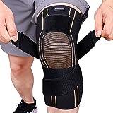Thx4COPPER Rodillera de compresión deportiva con correa ajustable, alivia la artritis, el dolor de rodilla, MCL, para correr, baloncesto, sentadillas, tamaño XL