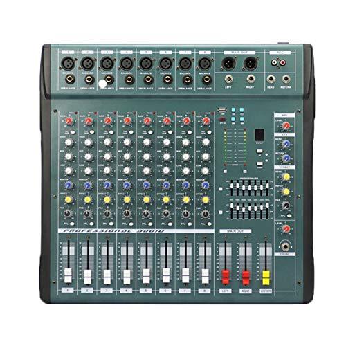 Mesas de Mezcla de Estudio, 6/8/12/16 Canales Audio Música Mezclador USB Consola mezcladora Pro Procesador de Efectos Digitales Console de Mistura de mixagem,8way