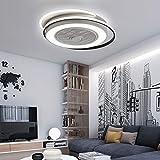 Ventilatore da soffitto a LED con luce invisibile, ventilatore creativo da soffitto con telecomando dimmerabile, ultra silenzioso, per soggiorno, materiale: acrilico + metallo