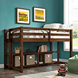 Better Homes and Gardens Loft Storage Bed with Spacious Storage Shelves, Multiple Finishes, Espresso