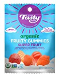Tasty Brand Organic Fruit Snacks, Superfruit Flavors, 2.75-ounce Bags (Pack of 6)