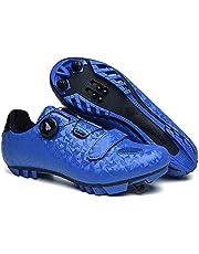 ZJH Unisex fietsschoenen carbon racefiets Schoenen Heren Sneakers Ademende Zelfremmendheid De Fiets MTB-schoenen (Kleur : Blauw, Grootte : 44)
