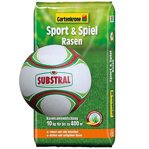 1 Lederfussball + 10 Kg Sport- und Spiel Rasensamen