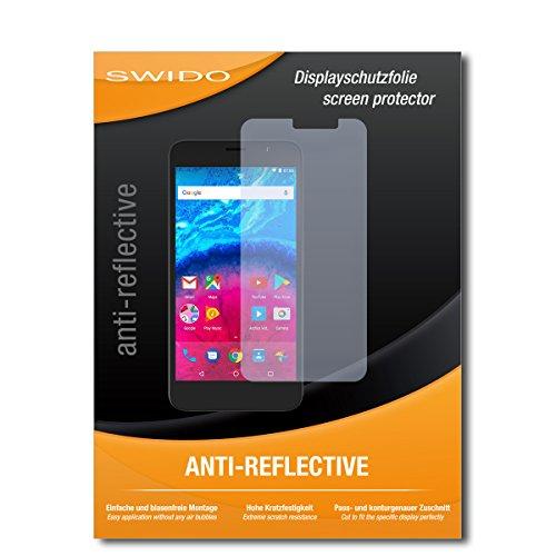 SWIDO Schutzfolie für Archos Core 55 [2 Stück] Anti-Reflex MATT Entspiegelnd, Hoher Festigkeitgrad, Schutz vor Kratzer/Bildschirmschutz, Bildschirmschutzfolie, Panzerglas-Folie