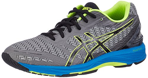 ASICS Gel-DS Trainer 22, Sneakers Uomo, Grigio (Carbon/Black/Safety Yellow), 42.5 EU